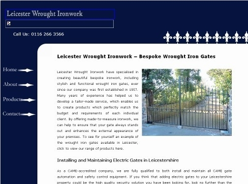 http://www.leicester-wrought-ironwork.co.uk/ website