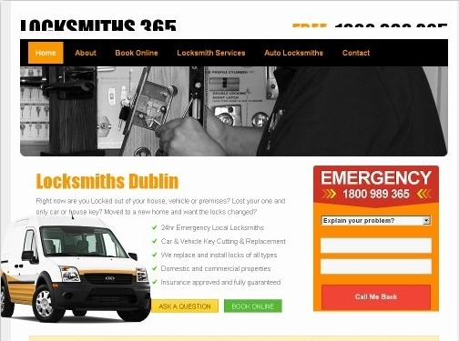 https://www.locksmiths365.ie website