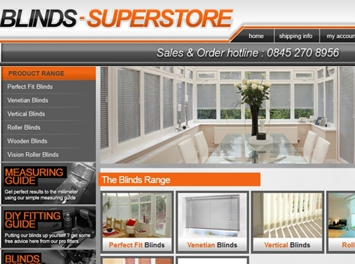 http://www.blinds-superstore.co.uk website