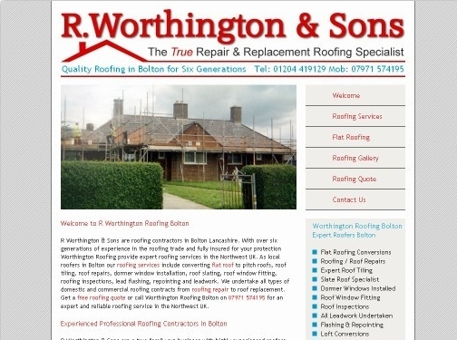 https://www.worthingtonroofing.co.uk/ website