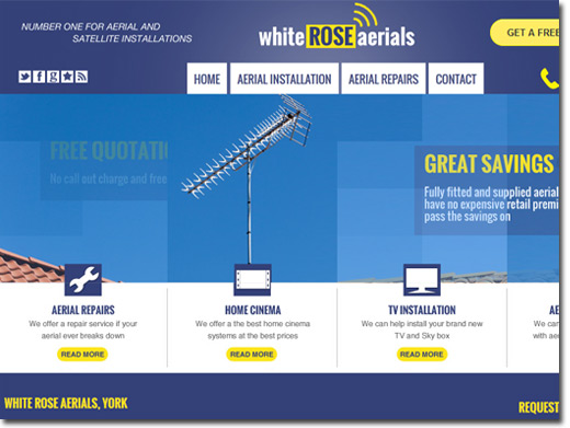 http://www.whiteroseaerials.co.uk website