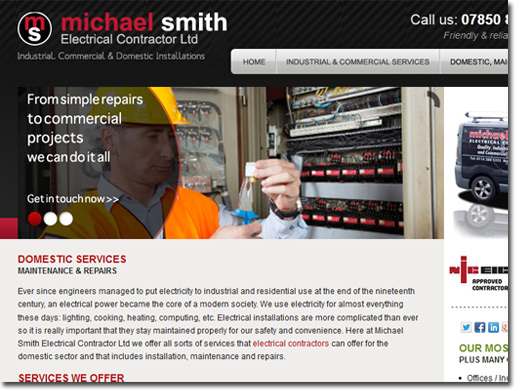 http://www.michaelsmithelectrical.co.uk/ website