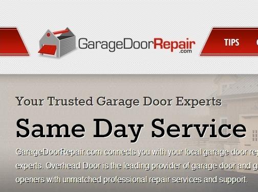 https://www.garagedoorrepair.com website