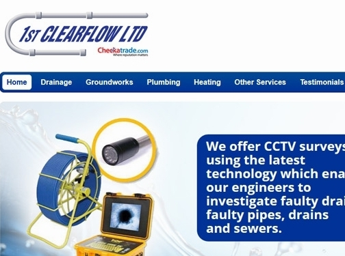 http://www.1stclearflow.co.uk website