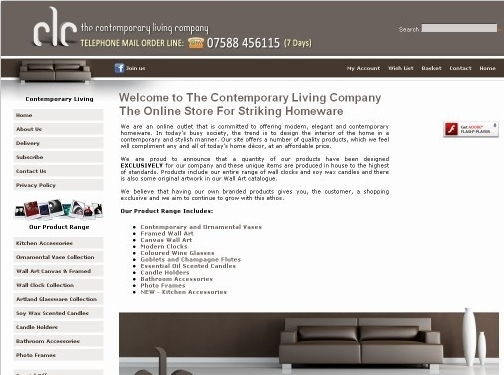 https://contemporarylivingcompany.co.uk website