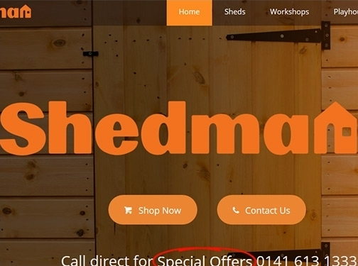 https://www.shedman.co.uk/ website
