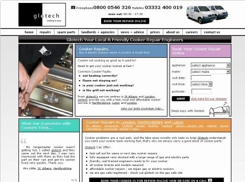https://www.glotechrepairs.co.uk/cooker-repairs.php website